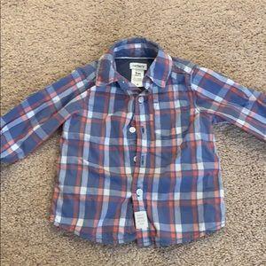 Like new Carter's button up shirt